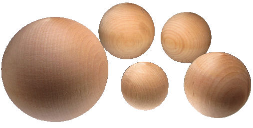 Wooden balls for crafts