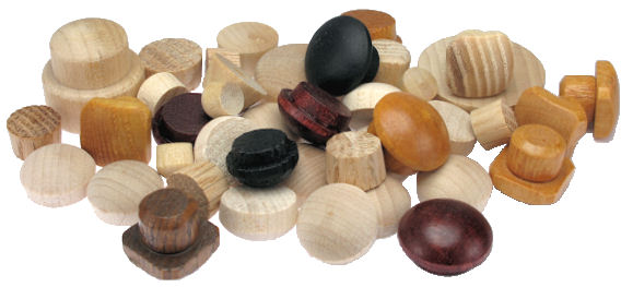 maine wood concepts - wood furniture buttons and wood screw hole plugs