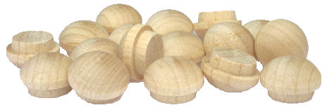 Mushroom_Wood_Plugs.jpg, mushroom wood screw hole plug, wooden plugs USA, wood turnings