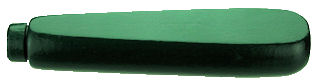 Flat_Sided_Wood_Handle___Green.jpg, dark green wood handle, green painted shaped wood handle