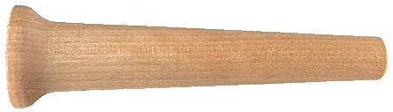 Tapered Wood Handle - Maple_1.jpg, hard maple handle with flared end