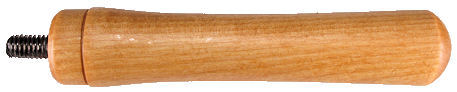 Wood_Handle_with_hanger_bolt.jpg, large wood handle with bolt inserted in end, wooden handle with bolt and finish