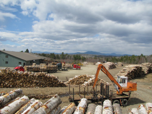 Sawmill with Mtns-2, maine wood concepts sawmill, 105 lake street new vineyard maine 04956, maine wood turning sawmill