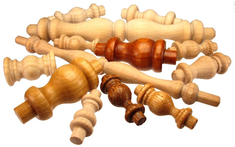 Assorted_Wood_Spindles____702x441.jpg, custom wooden spindles, custom made hardwood spindles