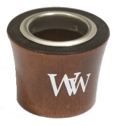 Foil_Printing.jpg, foil printed walnut wood cap, metal ferrule on printed wood cap, custom wood turning usa